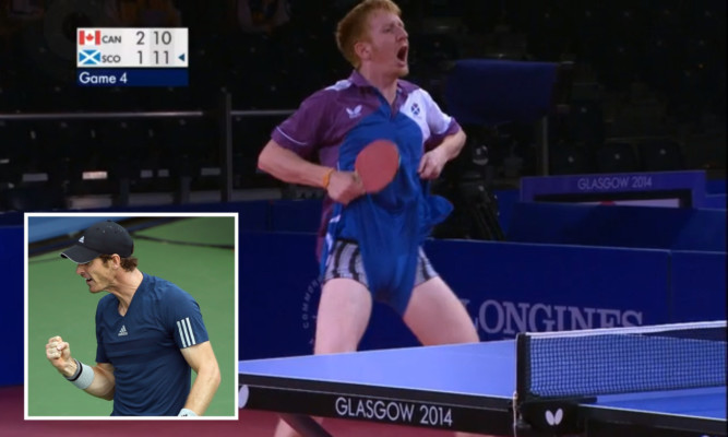Gavin Rumgays celebration could be seen at the US Open, friend Andy Murray (inset) has hinted.