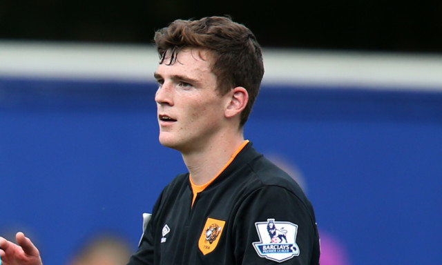 Andrew Robertson after his Premier League debut for Hull.