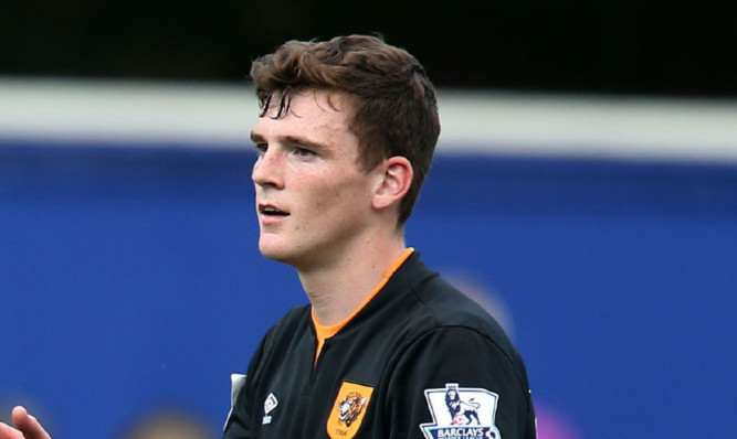 Andrew Robertson during Saturday's victory over QPR.