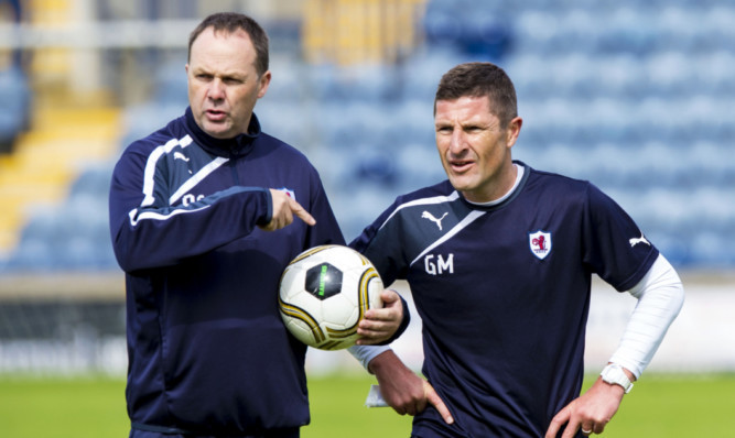 Grant Murray (right) paid tribute to assistant Paul Smith.