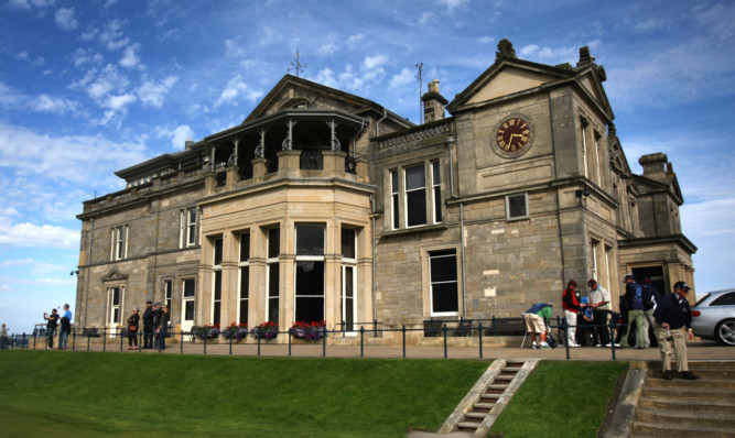 The R&A headquarters behind the Old Course in St Andrews.