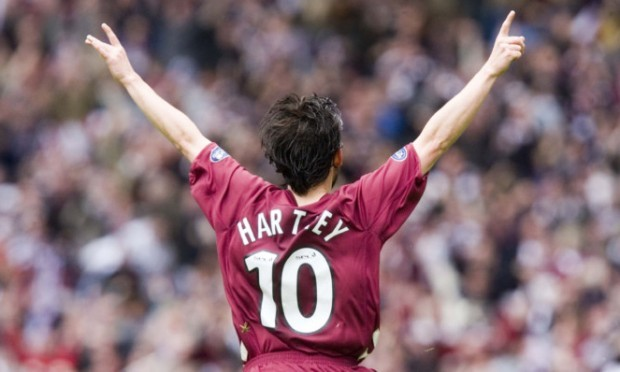 Paul Hartley celebrates a hat-trick against Hibs in 2006.
