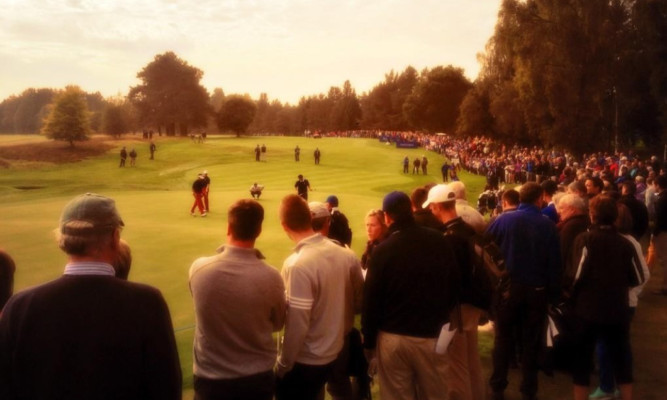 Big crowds at the Junior Ryder Cup on Monday.