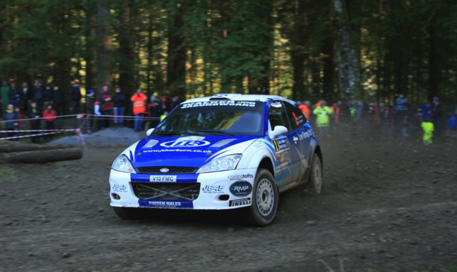 Euan Thorburn and co-driver Paul Beaton on their way to victory.