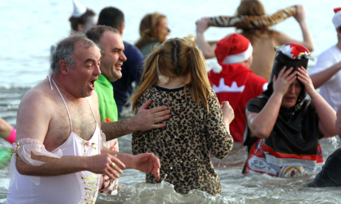 The face says it all at the Leven Dook.