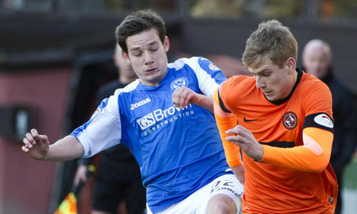 Peter Pawlett in action against Dundee United.