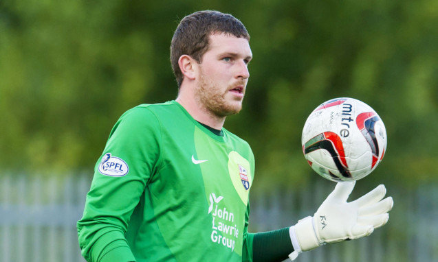 Montrose goalkeeper Stuart McKenzie received his second red card of the season.