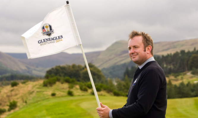 Andrew Jowett, head golf professional at Gleneagles, on the PGA Centenary Course.