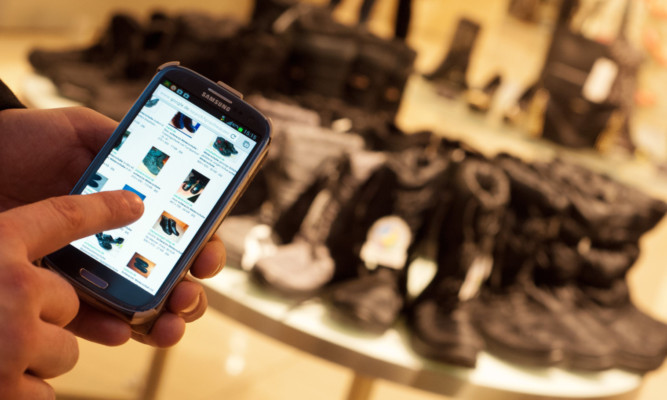 Tablets and smartphones give convenient access to online shopping.