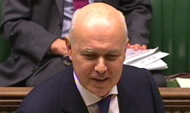 Mr Duncan Smith during the debate.