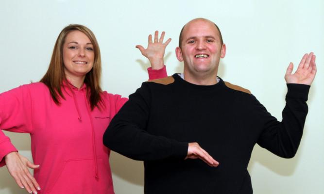 Mr Glynn and Sarah-Jayne Hood.