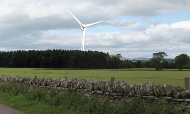 How the wind turbine at Forfar Golf Course would have looked.