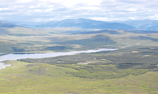 The proposed site of the Talladh-a-Bheithe windfarm at Rannoch in Highland Perthshire.