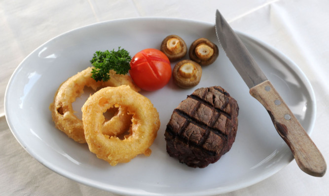 The Aberdeen Angus steak fillet.
