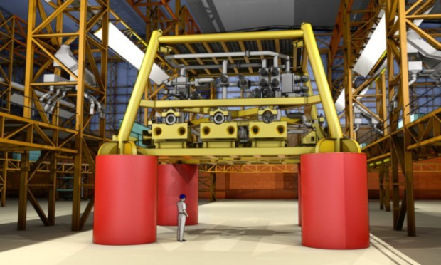 an impression of the subsea structures to be built by Babcock