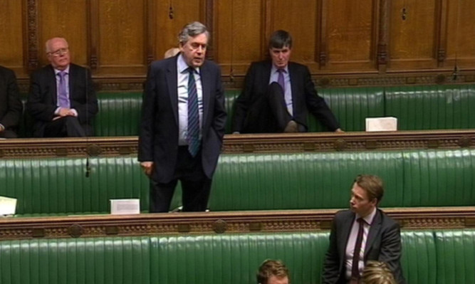 Mr Brown speaking in the House of Commons.