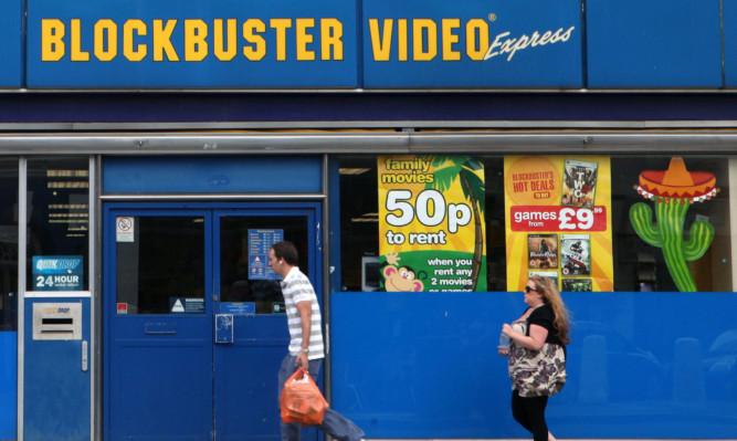 Scots stores will be closed as Blockbuster's administrators try to restructure the business.