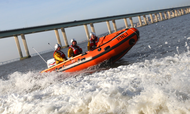 Both the inshore and all-weather lifeboats from Broughty Ferry were involved in the rescue efforts.
