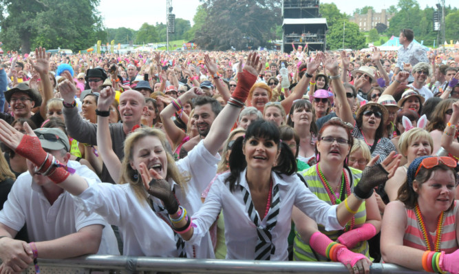 Fans lapping up the atmosphere at last year's Rewind Festival.