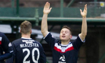 Baird's celebration of his goal against Hibs was dedicated to his late father-in-law, Jim Kennedy.