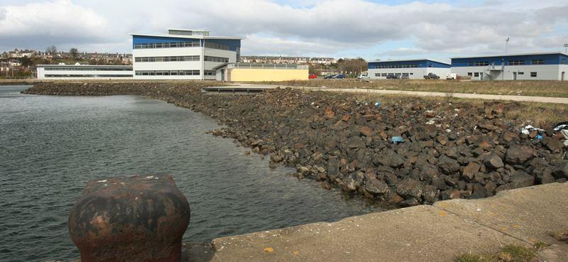 Methil docks.        The Methil Docks Business Park.