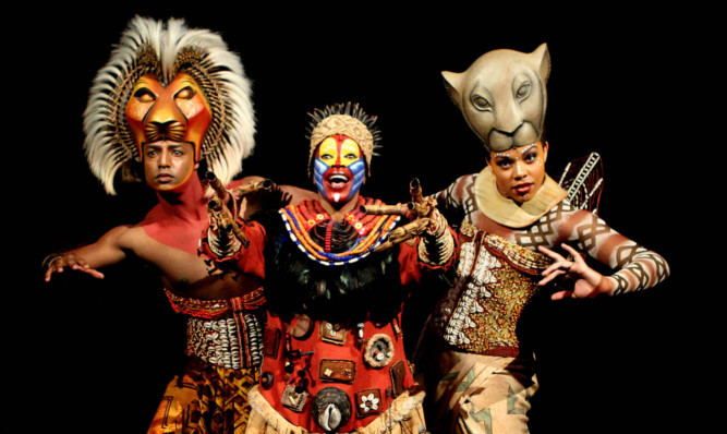 The Scottish perfomances of the Lion King musical start in October.