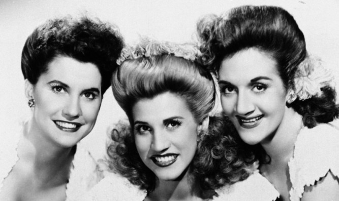 Patty (centre) with sisters Maxine (left) and LaVerne.