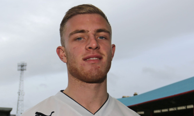 Dundee's new midfielder David Morgan joined up at Dens on loan from Nottingham Forest  .