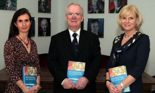 Professor Charles Munn with Katherine Garrett-Cox (left) and Karin Forseke at the launch of the new book.