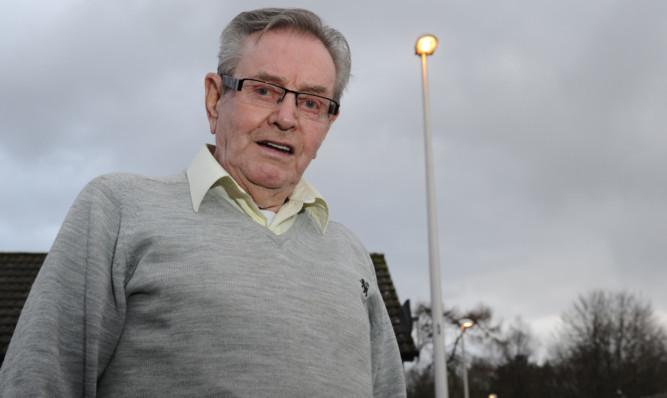 Derek Fonteyn outside his home on Old School Road, Westmuir.