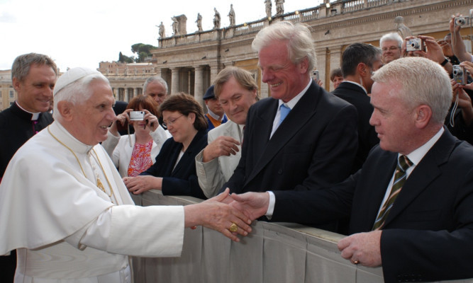 Jim McGovern meeting the Pope in 2007.