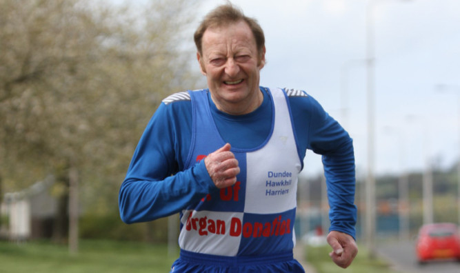 Ronnie McIntosh raised thousands of pounds for charity.