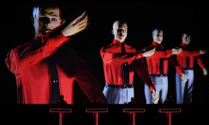 Kraftwerk's audio-visual performance at the Tate Modern last week.