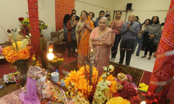 A colourful ceremony at the Tayside Hindu Cultural Centre.