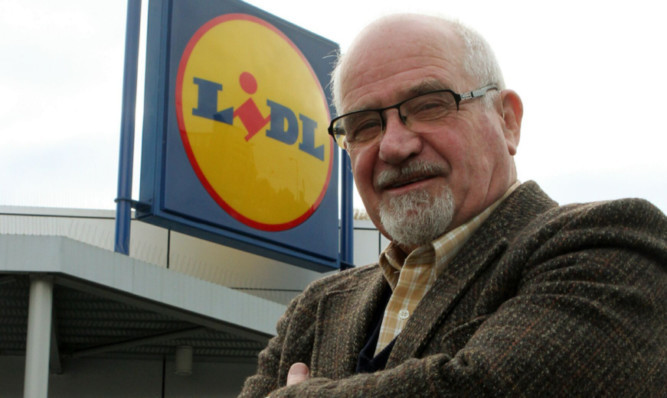 David Band outside the Lidl store on South Ward Road.