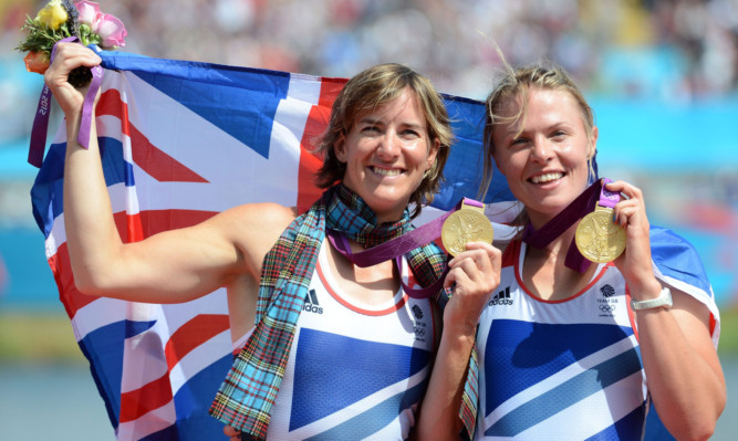 Katherine Grainger (left) and Anna Watkins celebrating gold in last year's London Olympics.