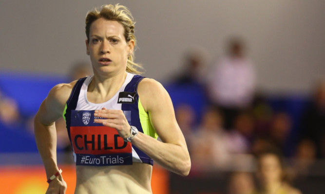 Eilidh Child competing in Sheffield last week.
