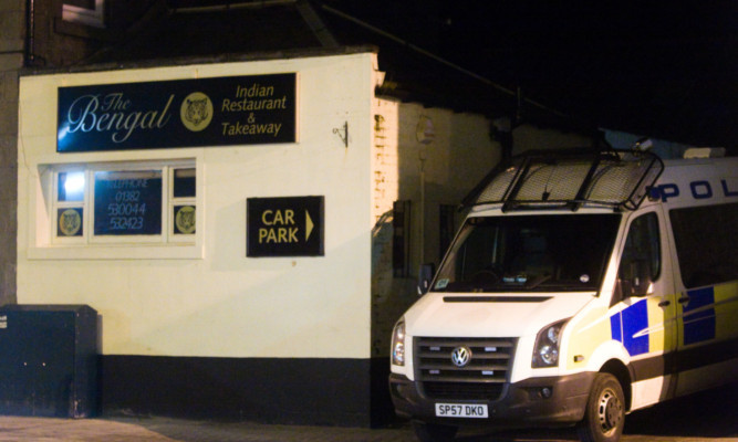 Police supported the UK Border Agency raid at the Bengal in Monifieth on Friday night.