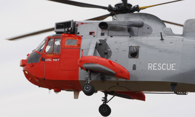 A Royal Navy search crew was scrambled from Prestwick.