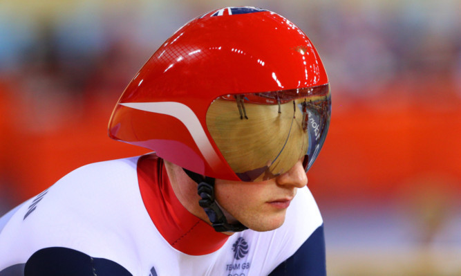 during xxxx on Day 6 of the London 2012 Olympic Games at Velodrome on August 2, 2012 in London, England.
