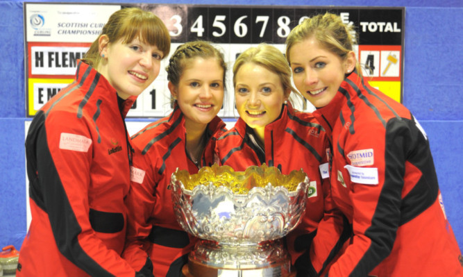 Golden girls   Claire Hamilton, Vicki Adams, Anna Sloan and Eve Muirhead.