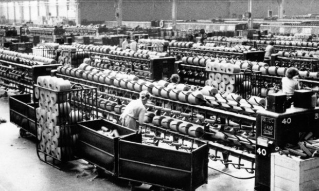 A shot from inside Camperdown Works in 1964.