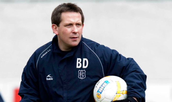 Billy Dodds during his controversial stint as Dundee assistant boss.