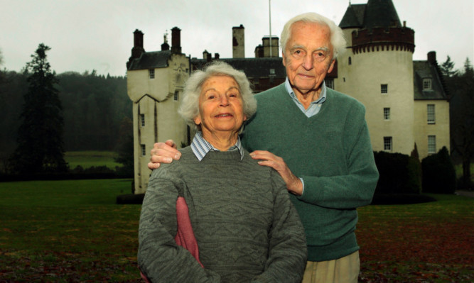 After 55 happy years in residence, Lord and Lady Airlie have moved out of Cortachy Castle to a smaller property close by.