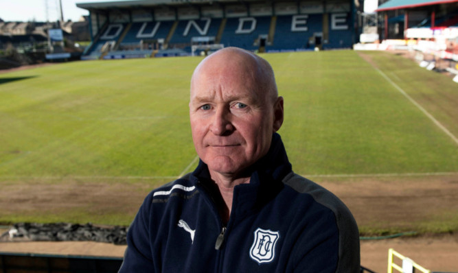 John Brown after being confirmed as interim manager on Monday.
