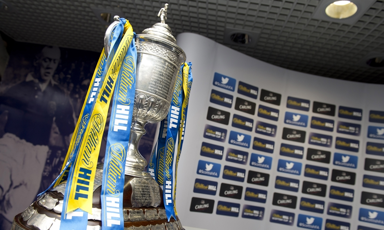 08/08/13 HAMPDEN - GLASGOW The first round fixtures are drawn for the William Hill Scottish Cup