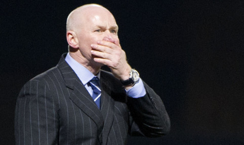 John Brown in charge of his first match against St Johnstone last night.