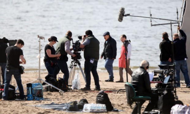 Filming of the latest series of Bob Servant at Broughty Ferry earlier this year.