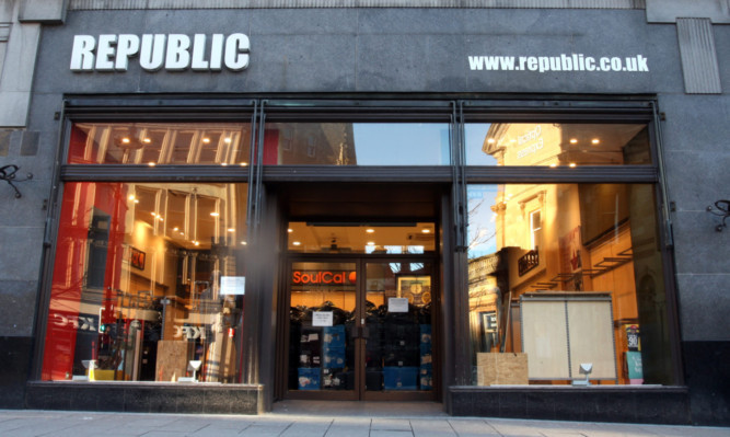 The Republic store on Dundee's High Street is one of those to have closed its doors.