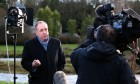 Alex Salmond is interviewed for TV after announcing he will stand as a candidate for Westminster.